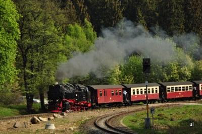 Brockenbahn mit Dampflokomotive